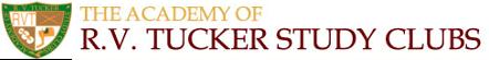 R.V.TUCKER Study Clubs (タッカー・ゴールド・スタディクラブ) Logo